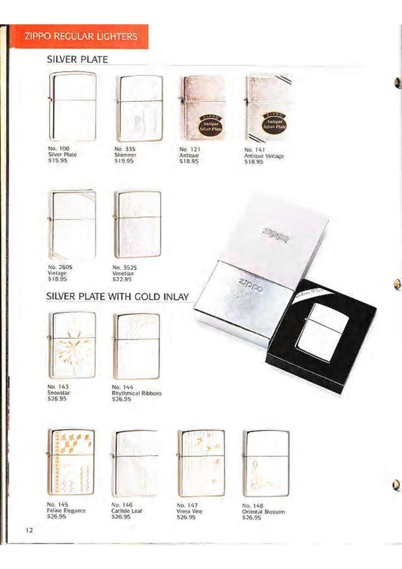 Catalogue ZIPPO Collection 1995 (version américaine) 1411