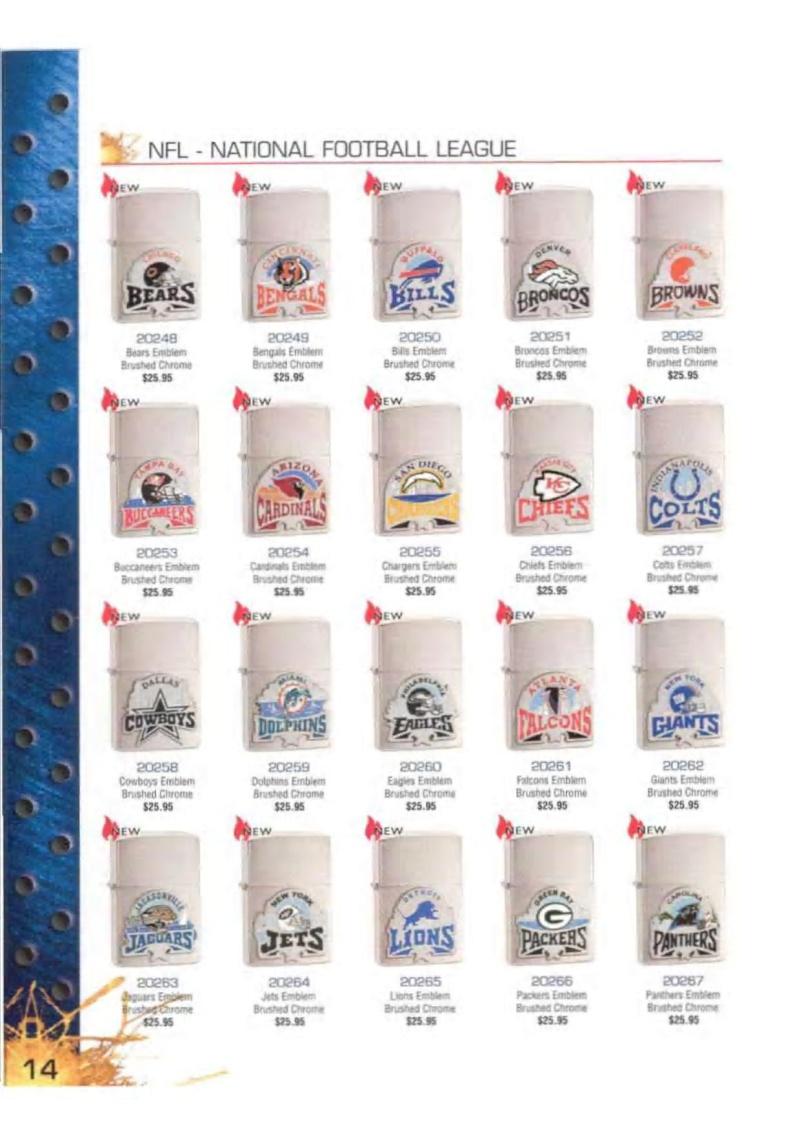 Catalogue ZIPPO 2003 Complete line (version américaine) 1416