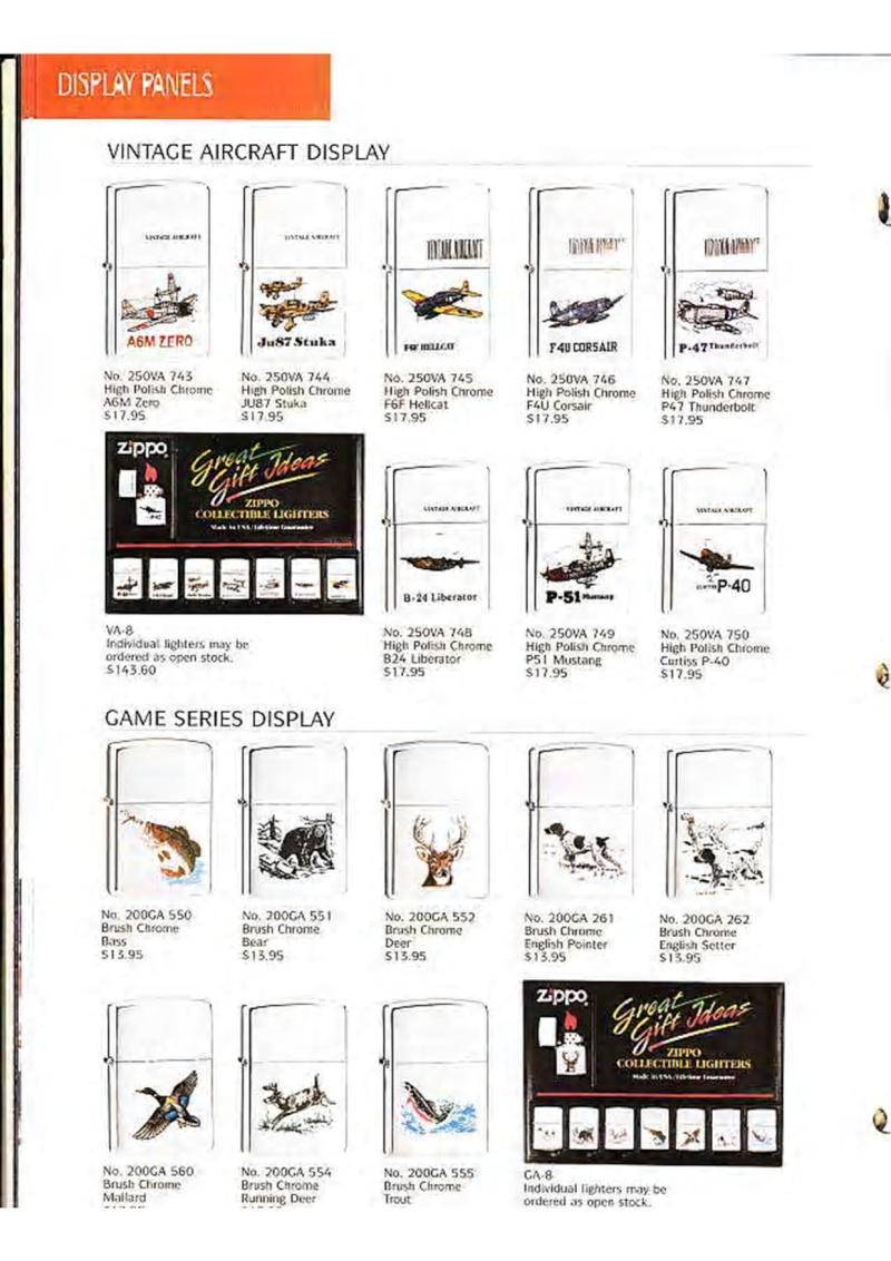 Catalogue ZIPPO Collection 1995 (version américaine) 1611