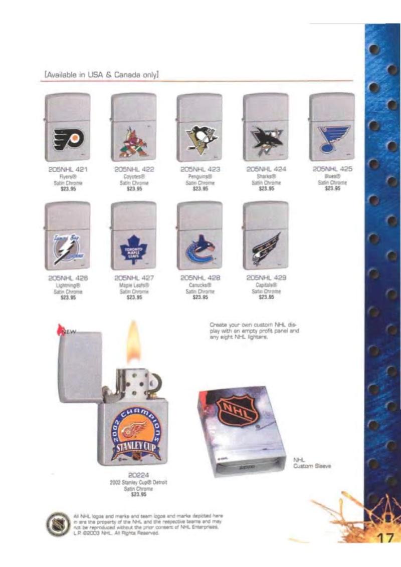 Catalogue ZIPPO 2003 Complete line (version américaine) 1715