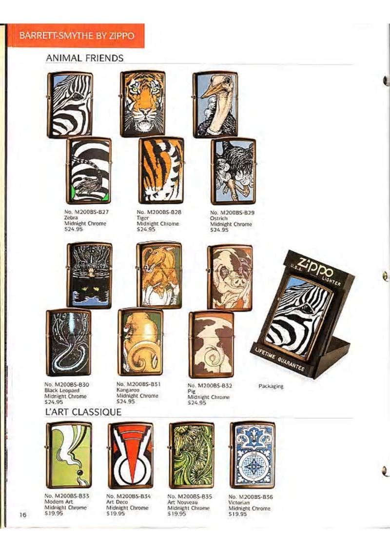 Catalogue ZIPPO Collection 1995 (version américaine) 1810