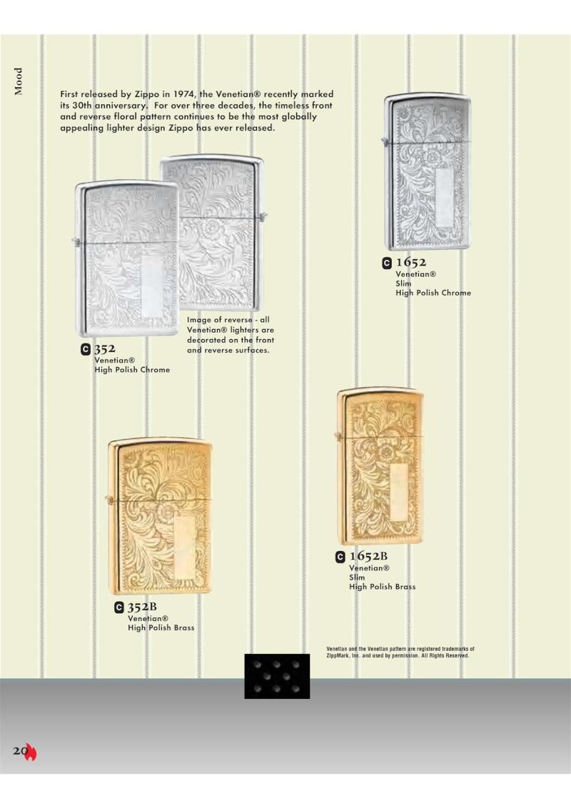 Catalogue ZIPPO 2007 Complete line (version américaine) 2012