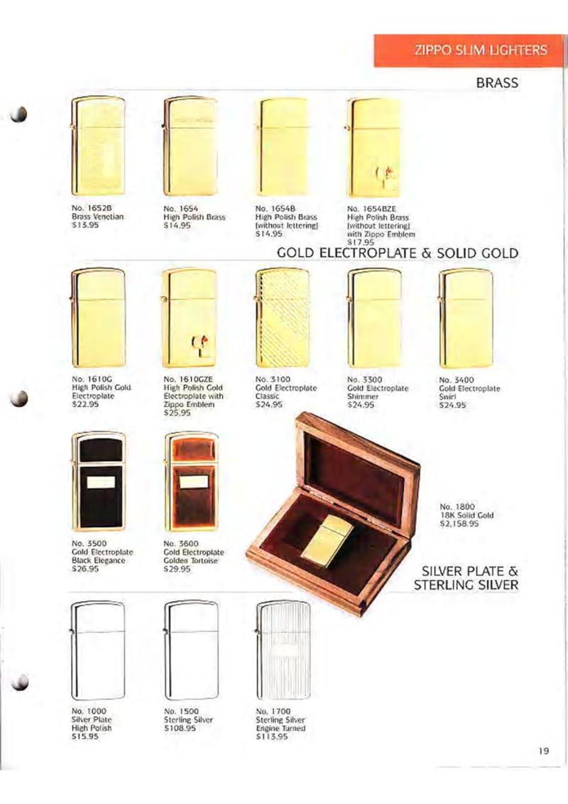 Catalogue ZIPPO Collection 1995 (version américaine) 2110
