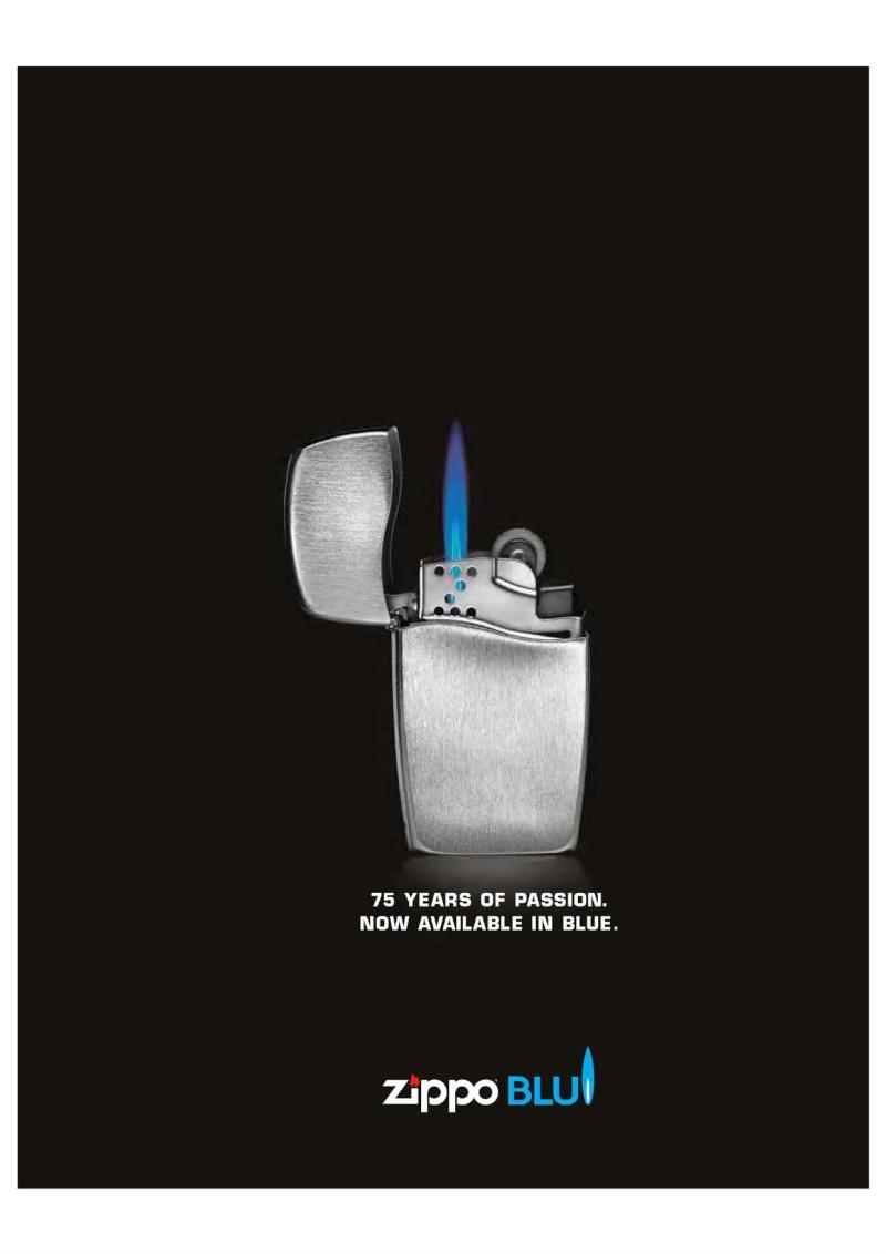 2007 ZippoBLU Butane Gas Lighter Catalog 217