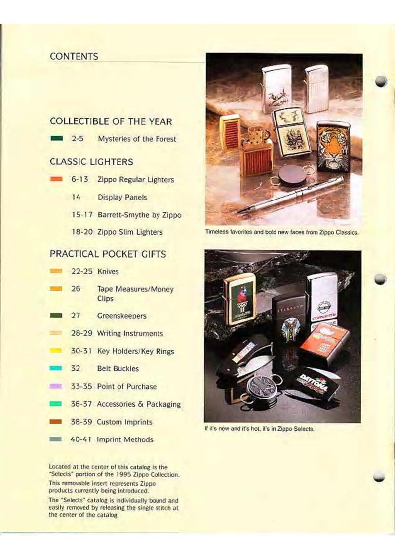 Catalogue ZIPPO Collection 1995 (version américaine) 218