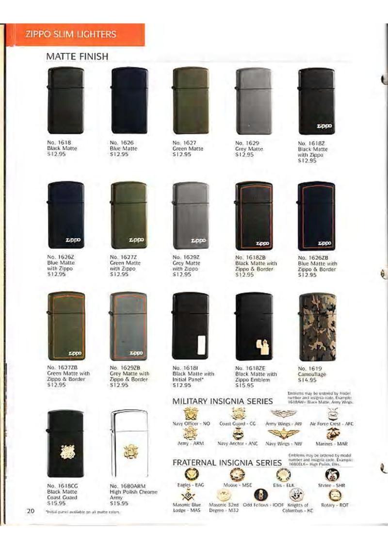 Catalogue ZIPPO Collection 1995 (version américaine) 2210