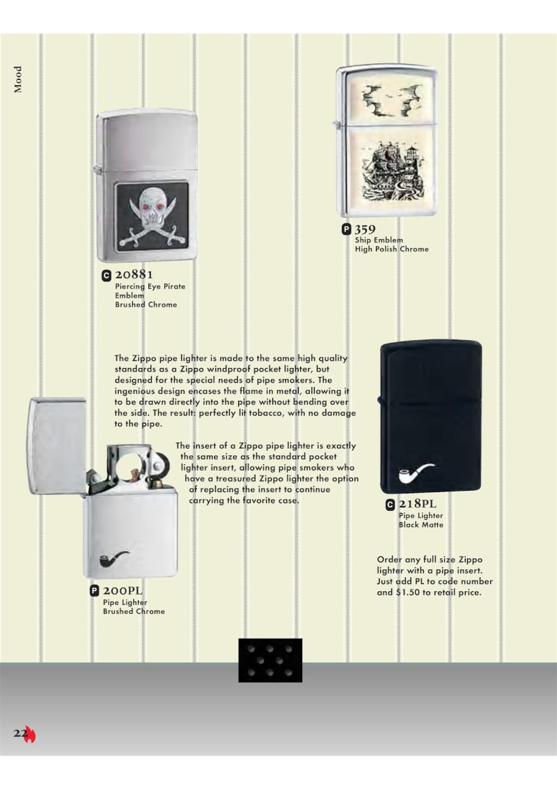 Catalogue ZIPPO 2007 Complete line (version américaine) 2212
