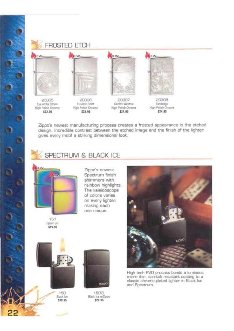 Catalogue ZIPPO 2003 Complete line (version américaine) 2215