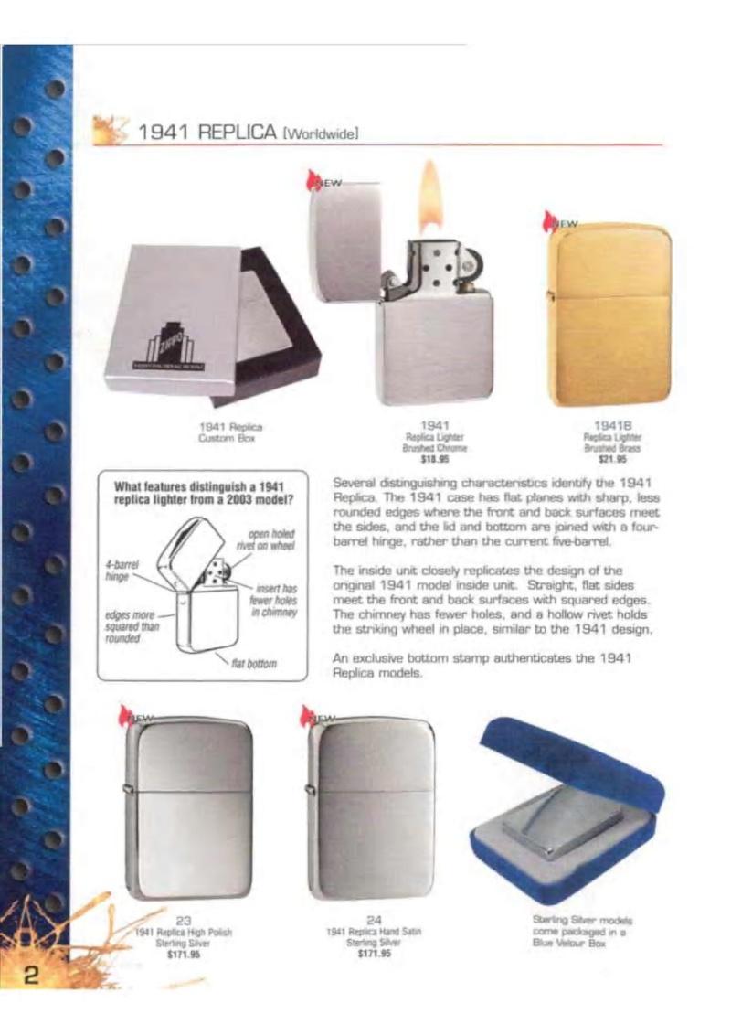 Catalogue ZIPPO 2003 Complete line (version américaine) 223