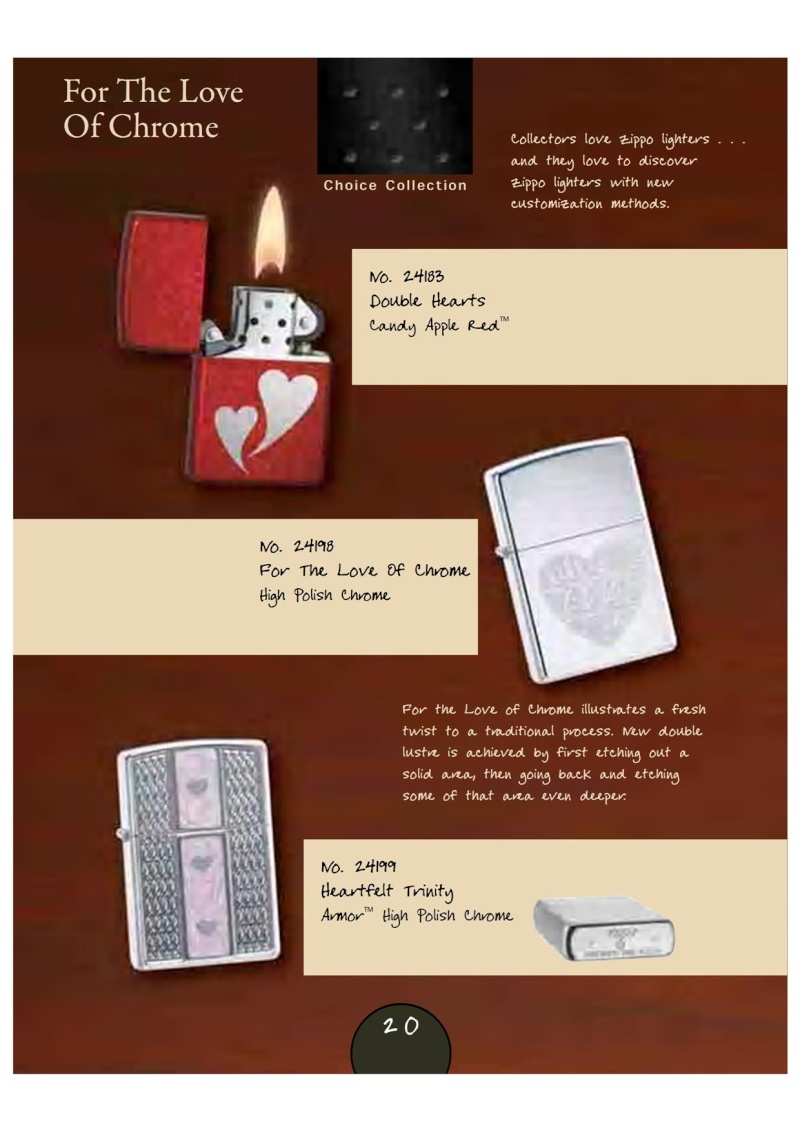 Catalogue Zippo 2007_08 Choice Anniversary Edition 2311