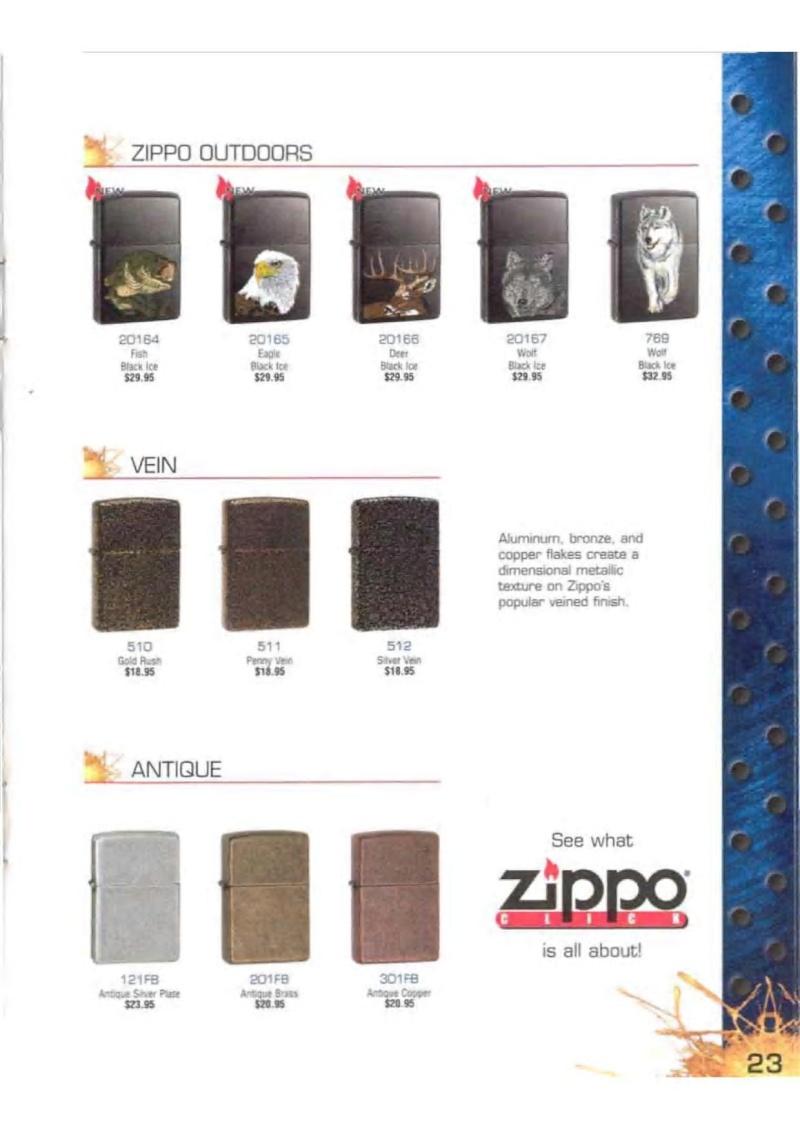 Catalogue ZIPPO 2003 Complete line (version américaine) 2315