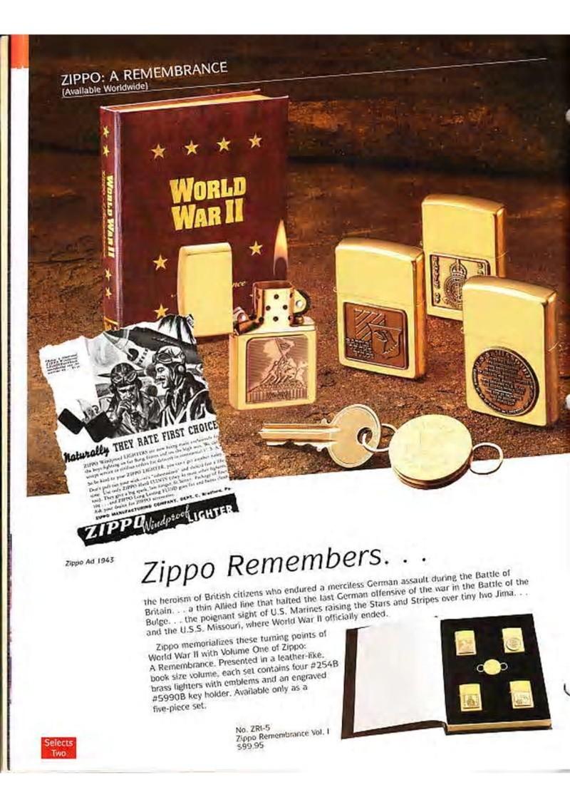 Catalogue ZIPPO Collection 1995 (version américaine) 2410