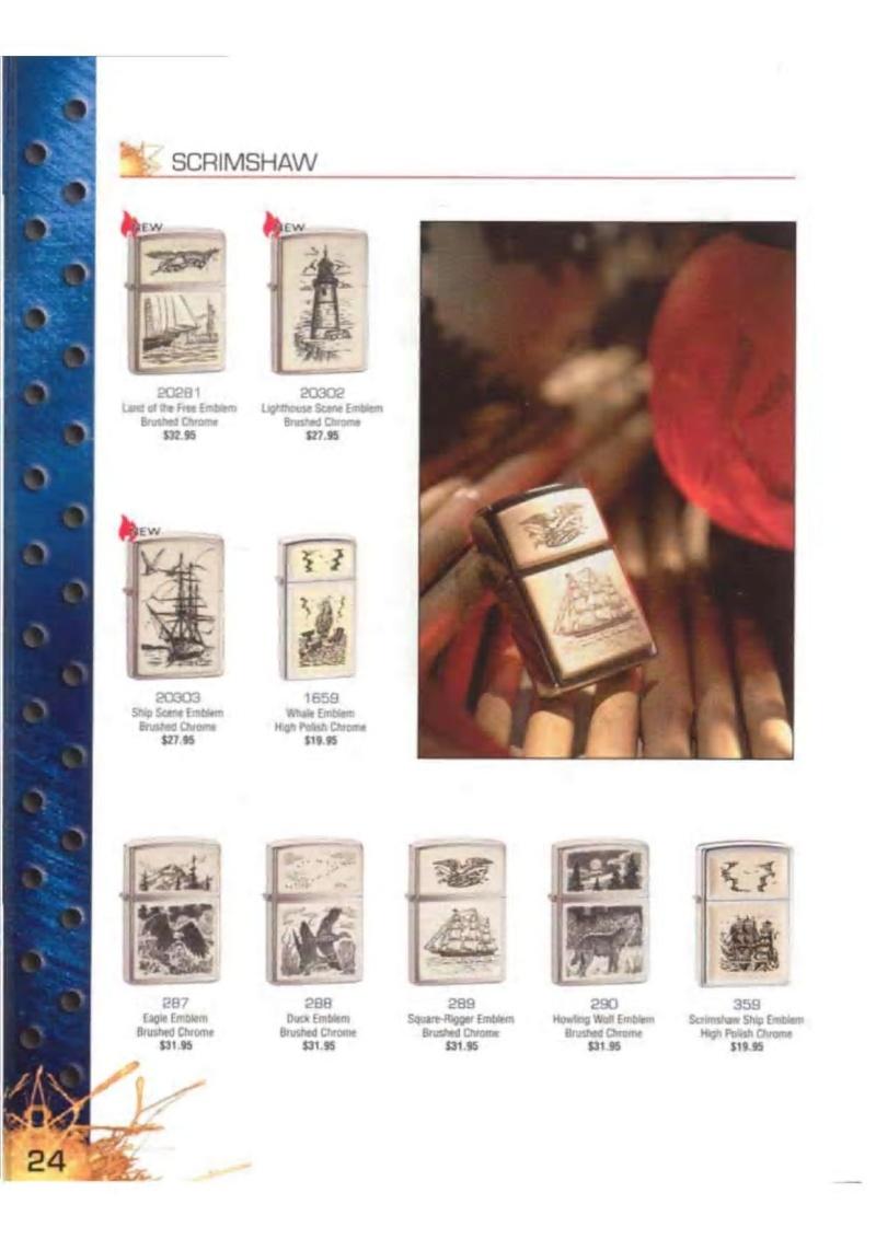 Catalogue ZIPPO 2003 Complete line (version américaine) 2415
