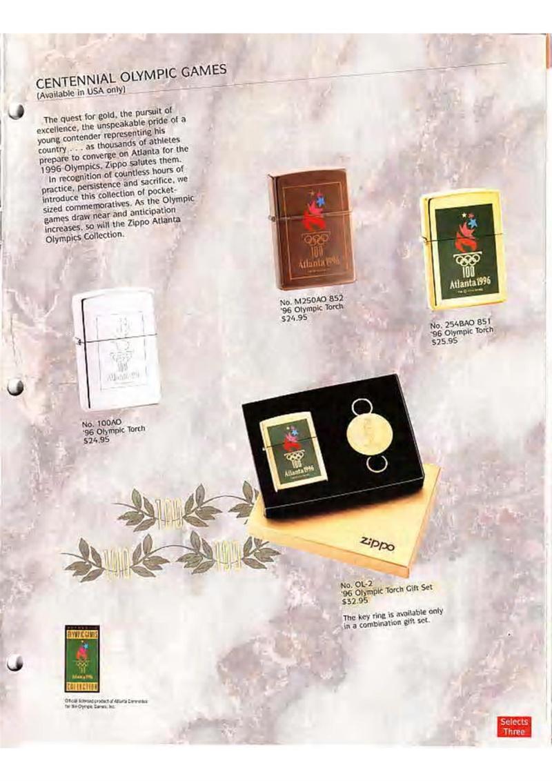 Catalogue ZIPPO Collection 1995 (version américaine) 2510