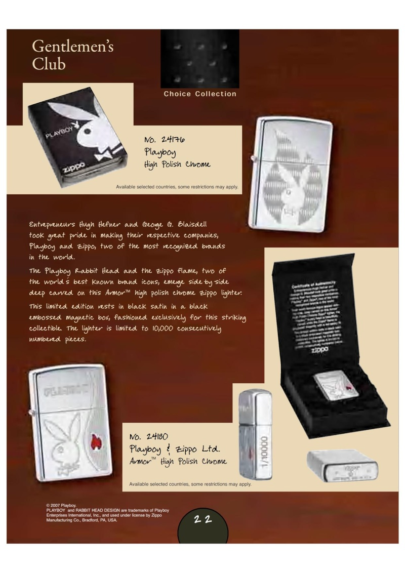 Catalogue Zippo 2007_08 Choice Anniversary Edition 2511