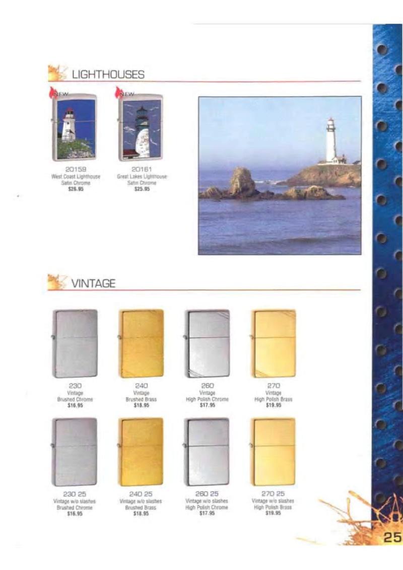 Catalogue ZIPPO 2003 Complete line (version américaine) 2514