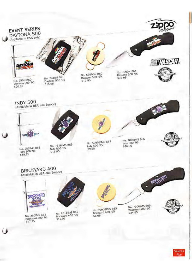 Catalogue ZIPPO Collection 1995 (version américaine) 2710
