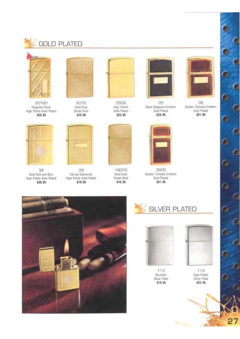 Catalogue ZIPPO 2003 Complete line (version américaine) 2714