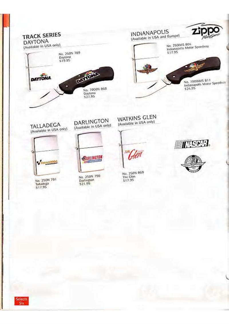Catalogue ZIPPO Collection 1995 (version américaine) 2810