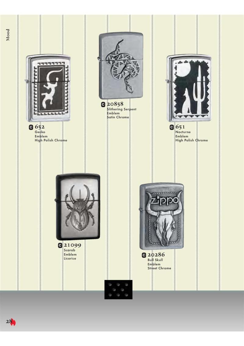 Catalogue ZIPPO 2007 Complete line (version américaine) 2813