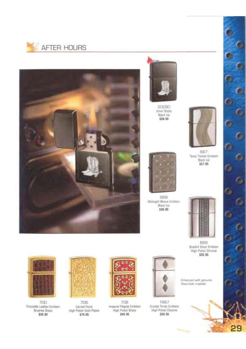 Catalogue ZIPPO 2003 Complete line (version américaine) 2914
