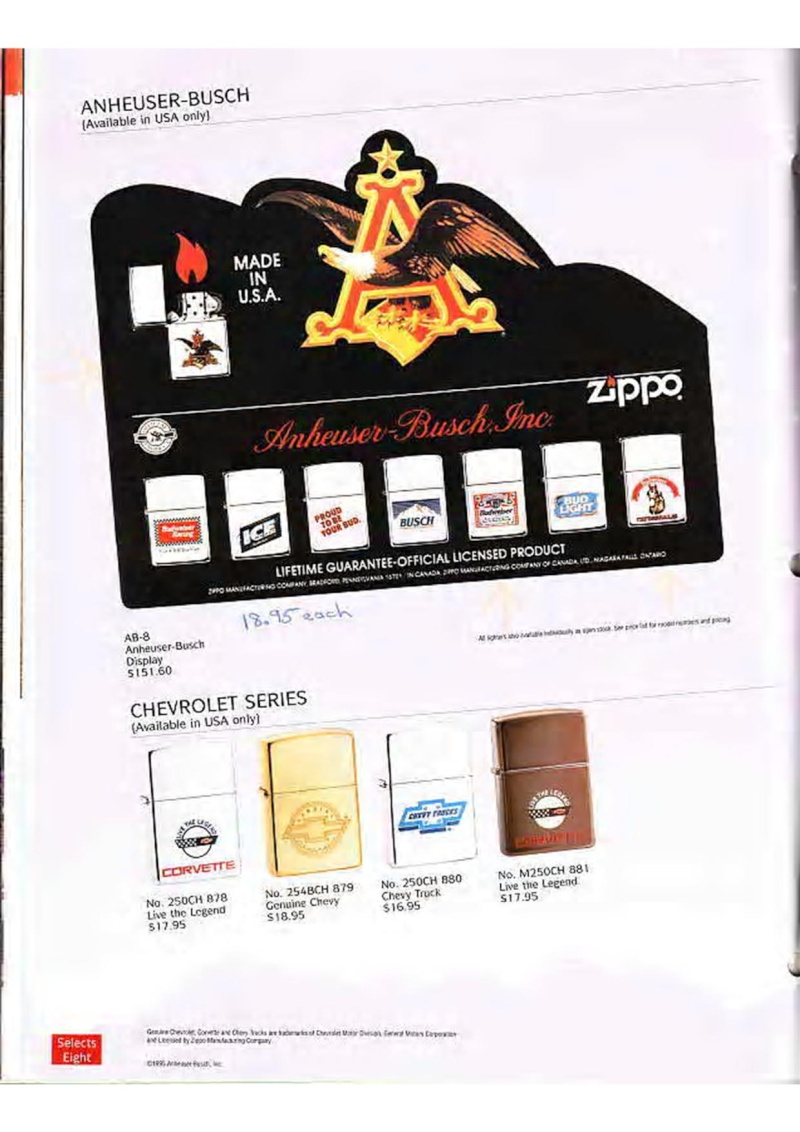 Catalogue ZIPPO Collection 1995 (version américaine) 3010