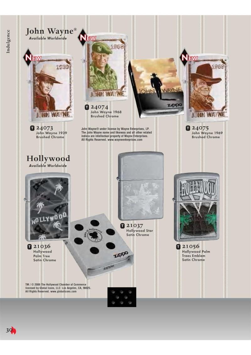 Catalogue ZIPPO 2007 Complete line (version américaine) 3012