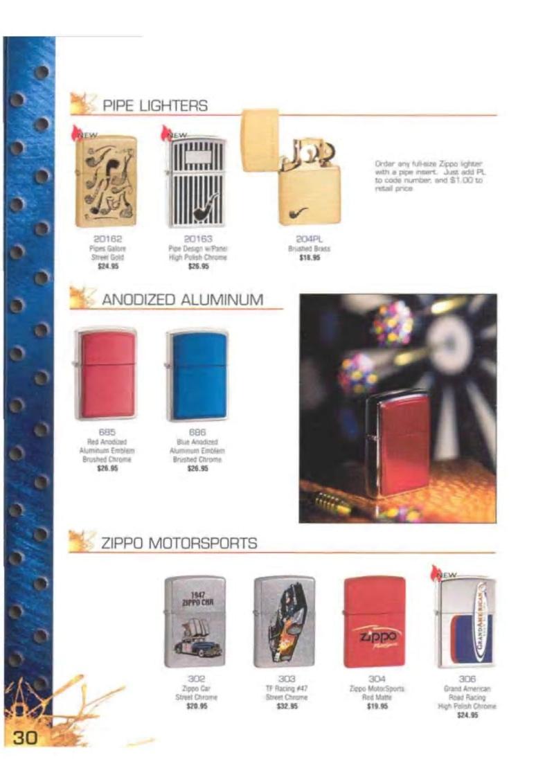 Catalogue ZIPPO 2003 Complete line (version américaine) 3014