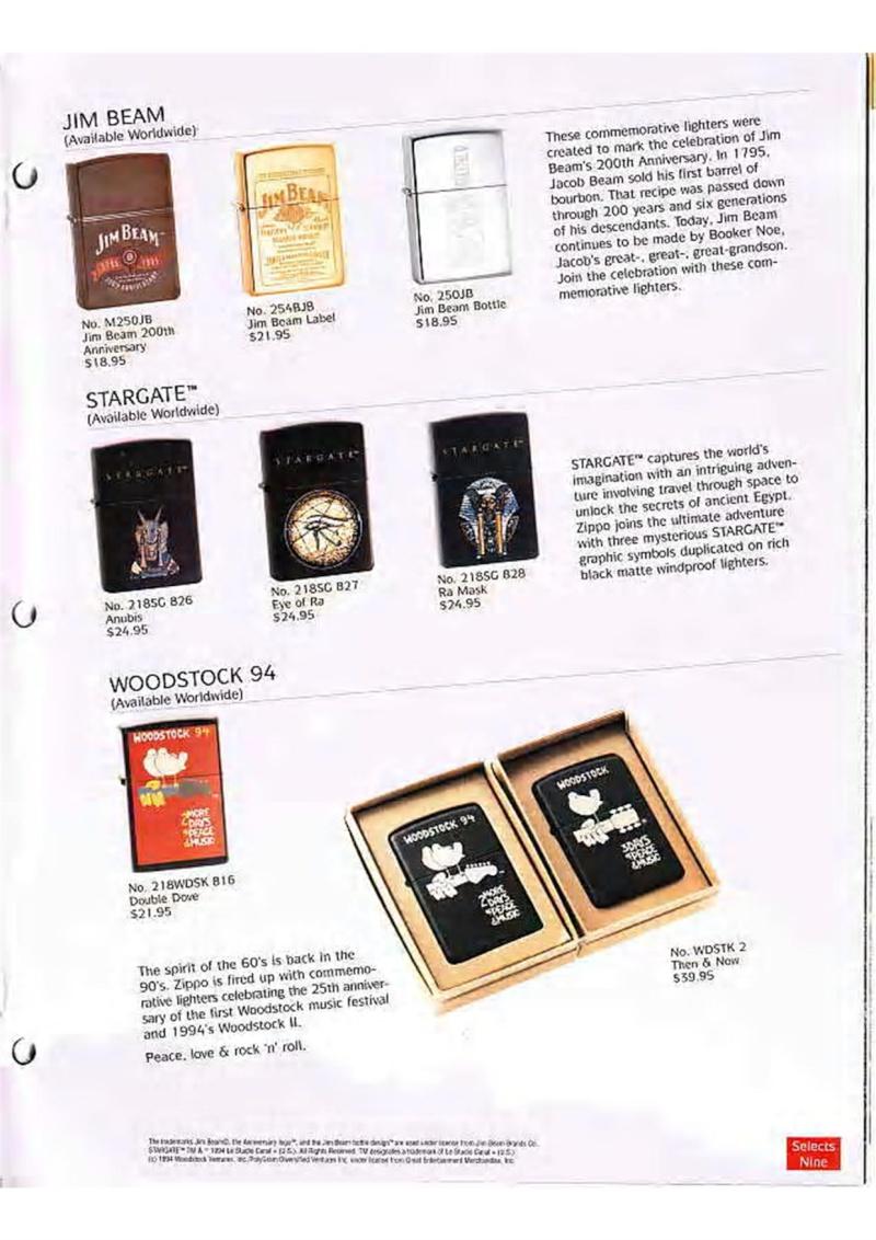 Catalogue ZIPPO Collection 1995 (version américaine) 3110