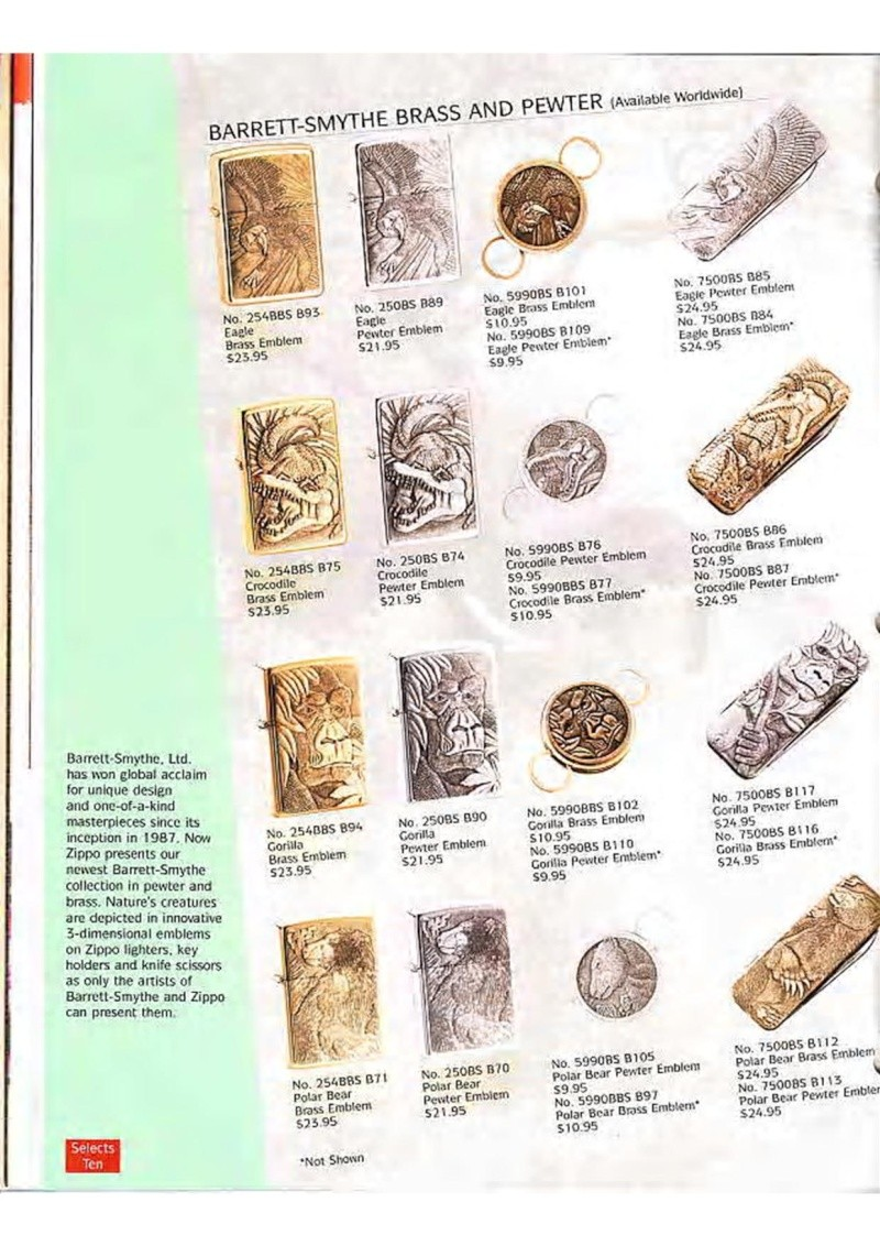 Catalogue ZIPPO Collection 1995 (version américaine) 3210