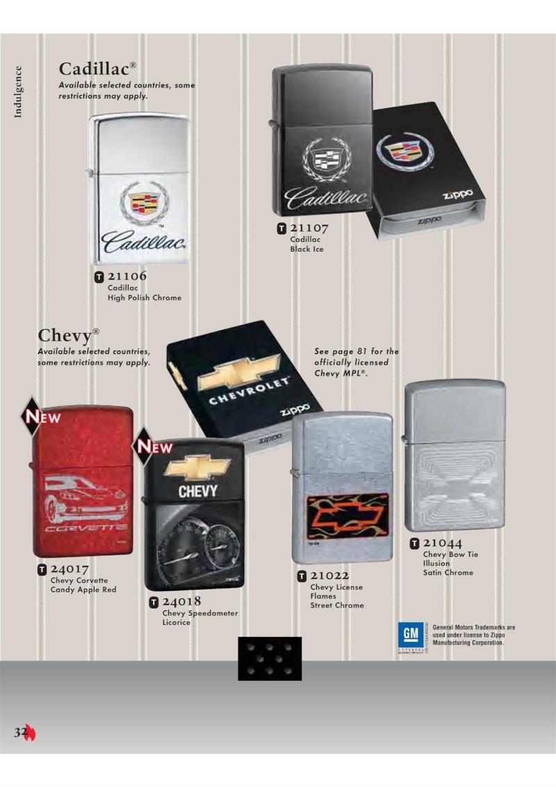 Catalogue ZIPPO 2007 Complete line (version américaine) 3211