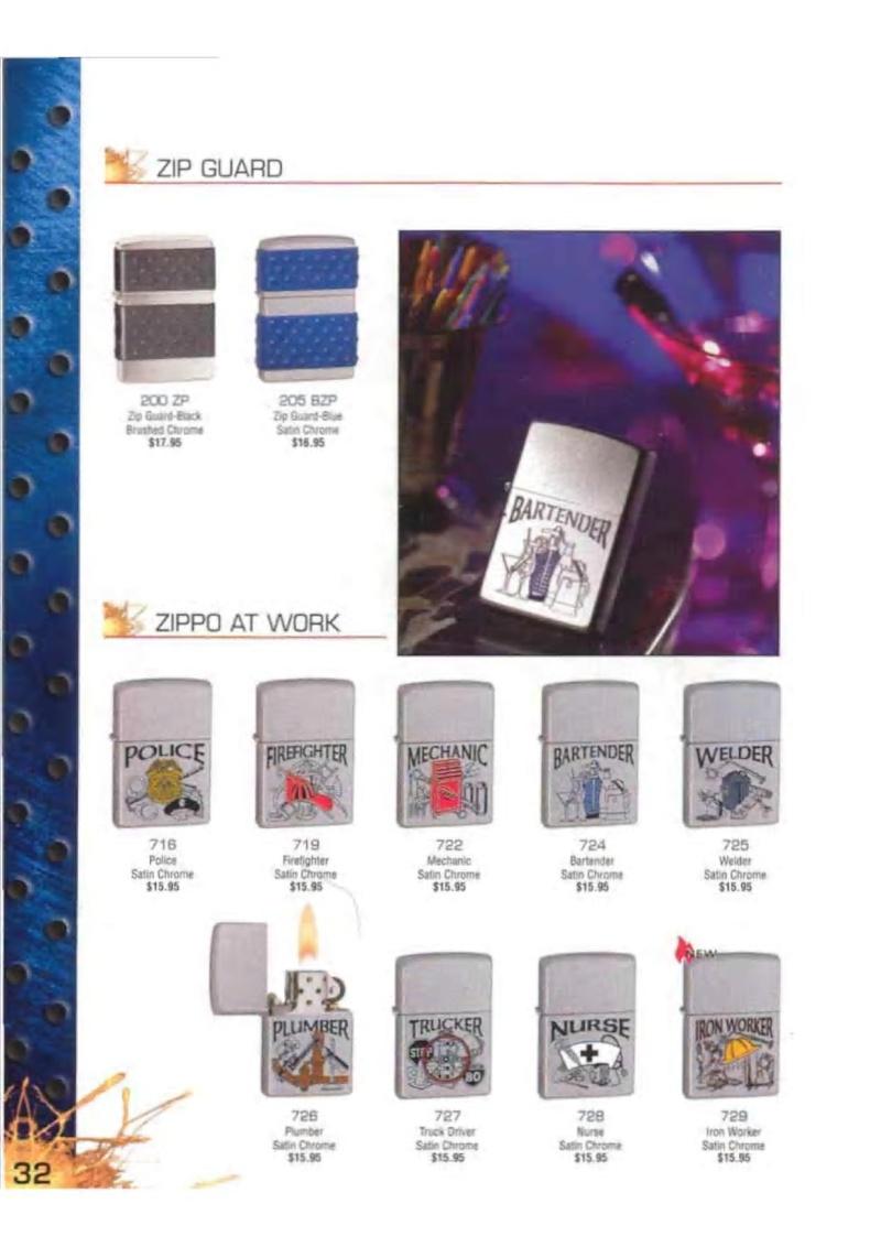 Catalogue ZIPPO 2003 Complete line (version américaine) 3213