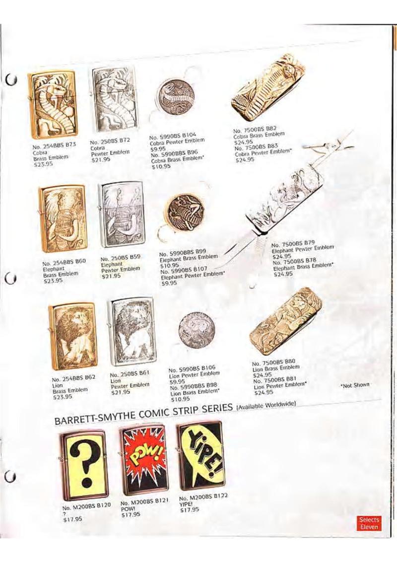 Catalogue ZIPPO Collection 1995 (version américaine) 3310