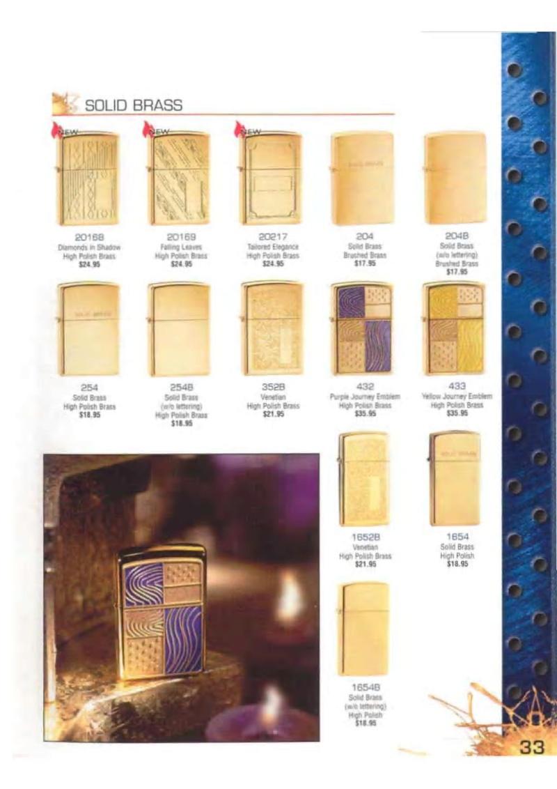Catalogue ZIPPO 2003 Complete line (version américaine) 3313