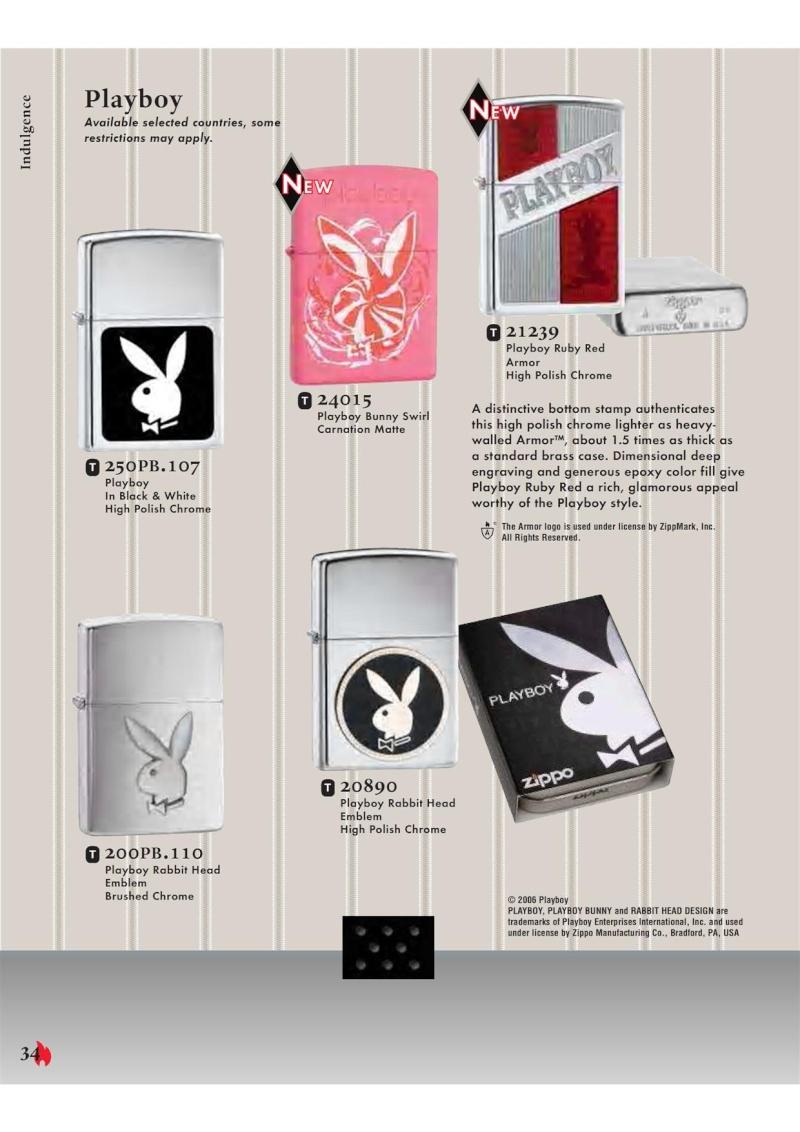 Catalogue ZIPPO 2007 Complete line (version américaine) 3411