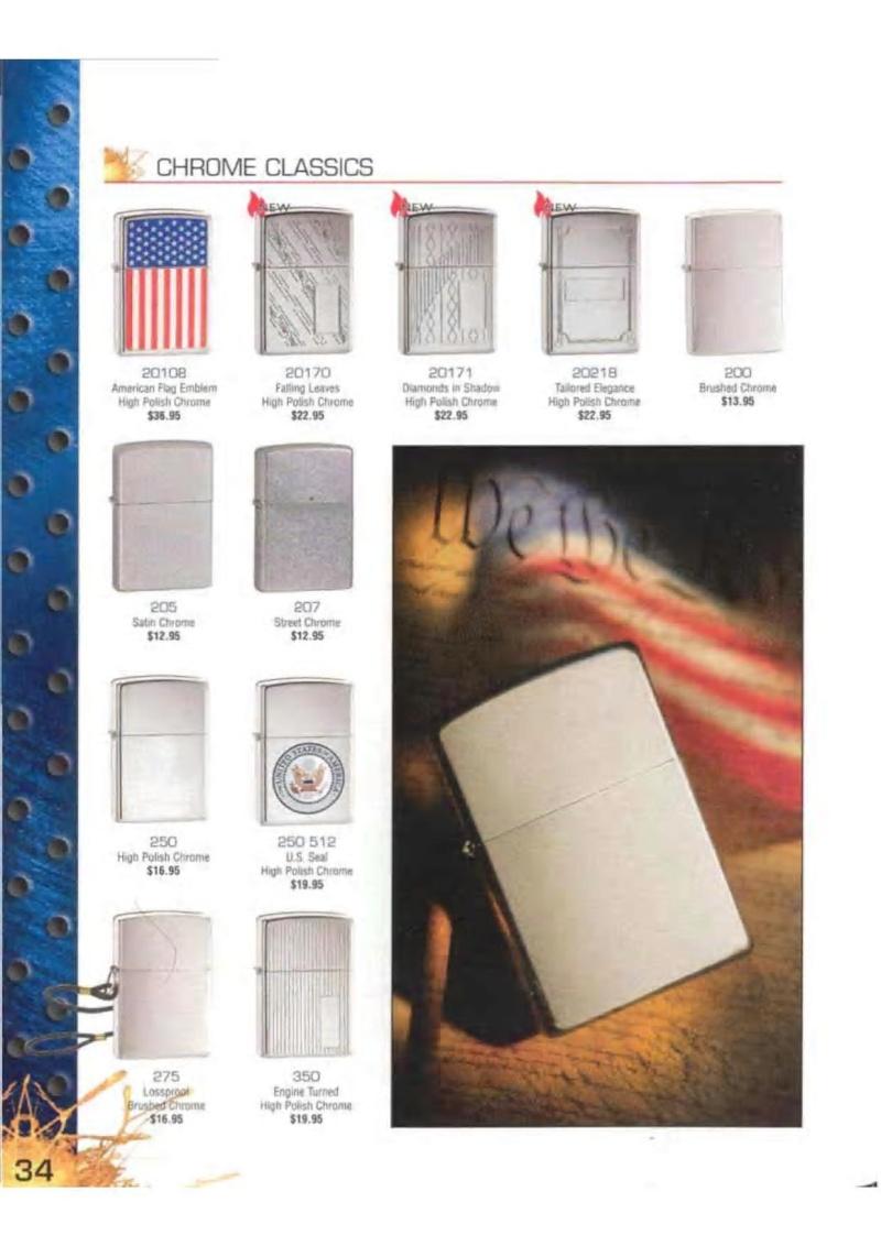 Catalogue ZIPPO 2003 Complete line (version américaine) 3413