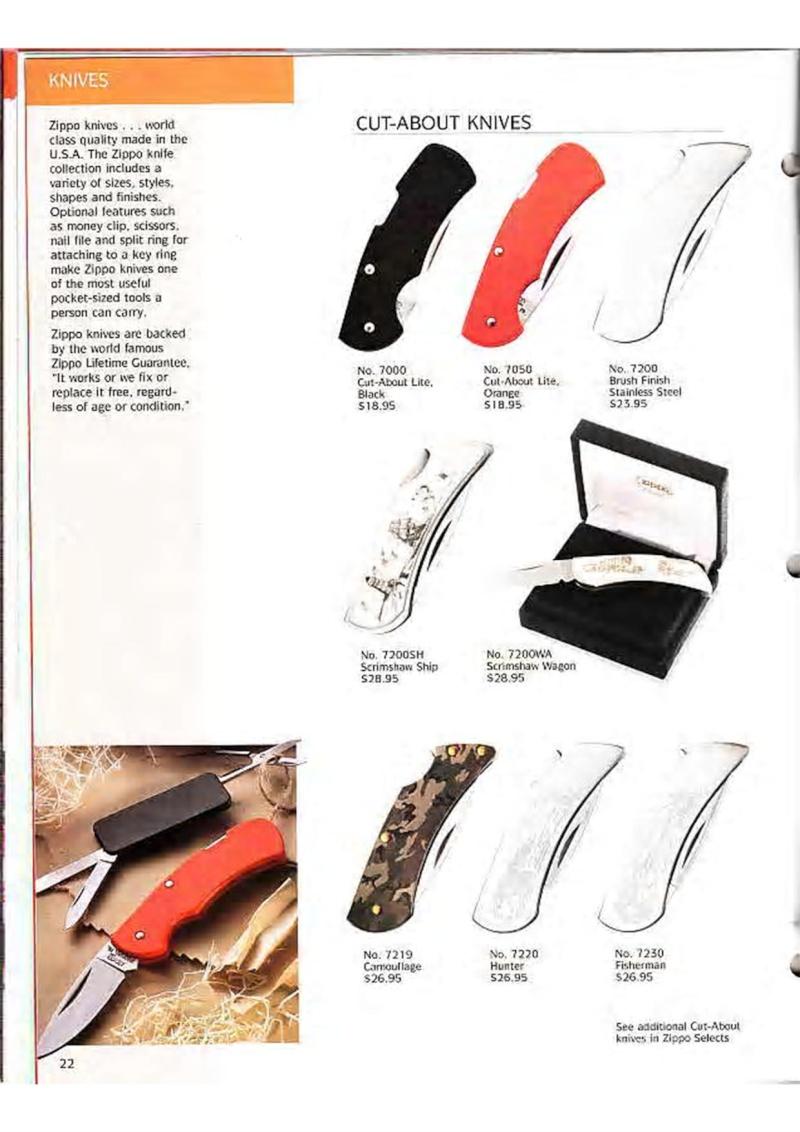 Catalogue ZIPPO Collection 1995 (version américaine) 3510
