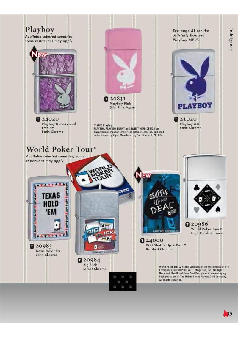 Catalogue ZIPPO 2007 Complete line (version américaine) 3511