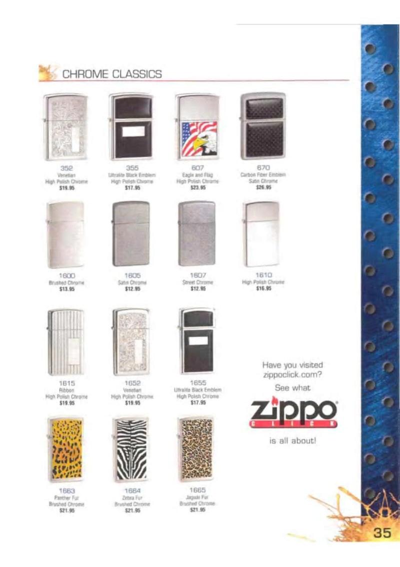 Catalogue ZIPPO 2003 Complete line (version américaine) 3513