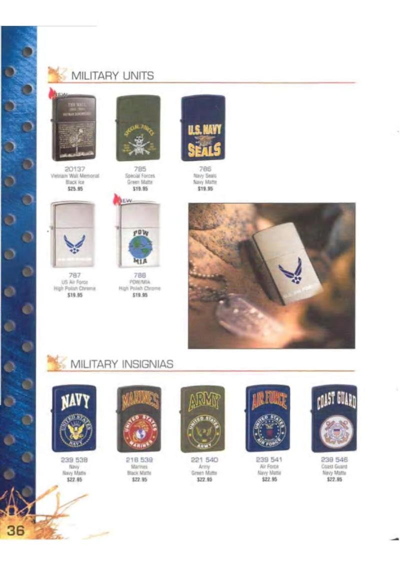 Catalogue ZIPPO 2003 Complete line (version américaine) 3613