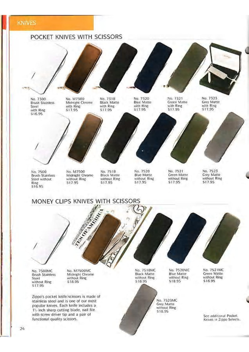 Catalogue ZIPPO Collection 1995 (version américaine) 3710