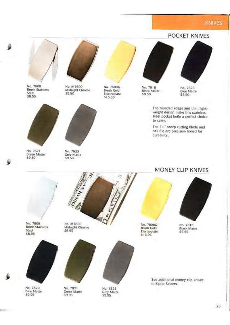 Catalogue ZIPPO Collection 1995 (version américaine) 3810