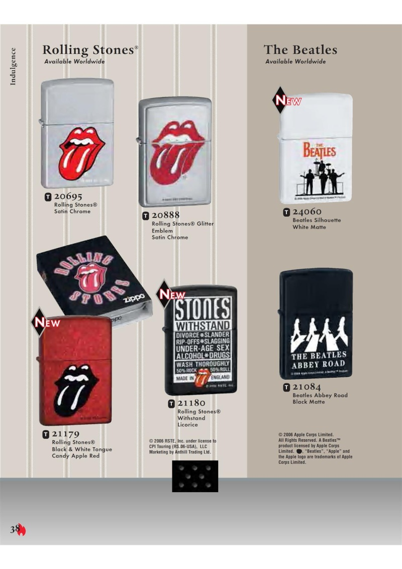 Catalogue ZIPPO 2007 Complete line (version américaine) 3811