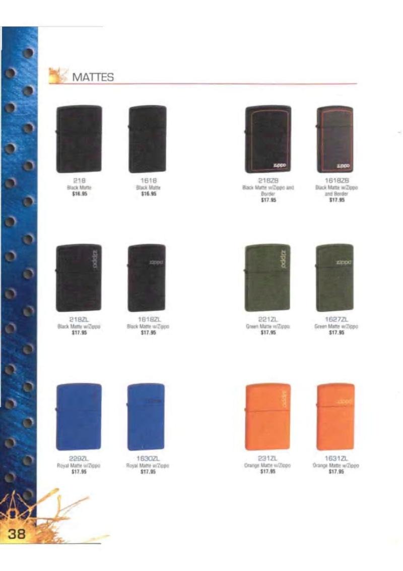 Catalogue ZIPPO 2003 Complete line (version américaine) 3813