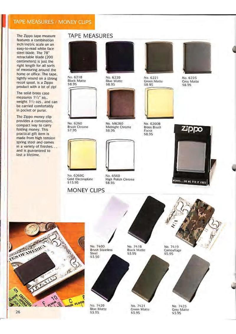 Catalogue ZIPPO Collection 1995 (version américaine) 3910