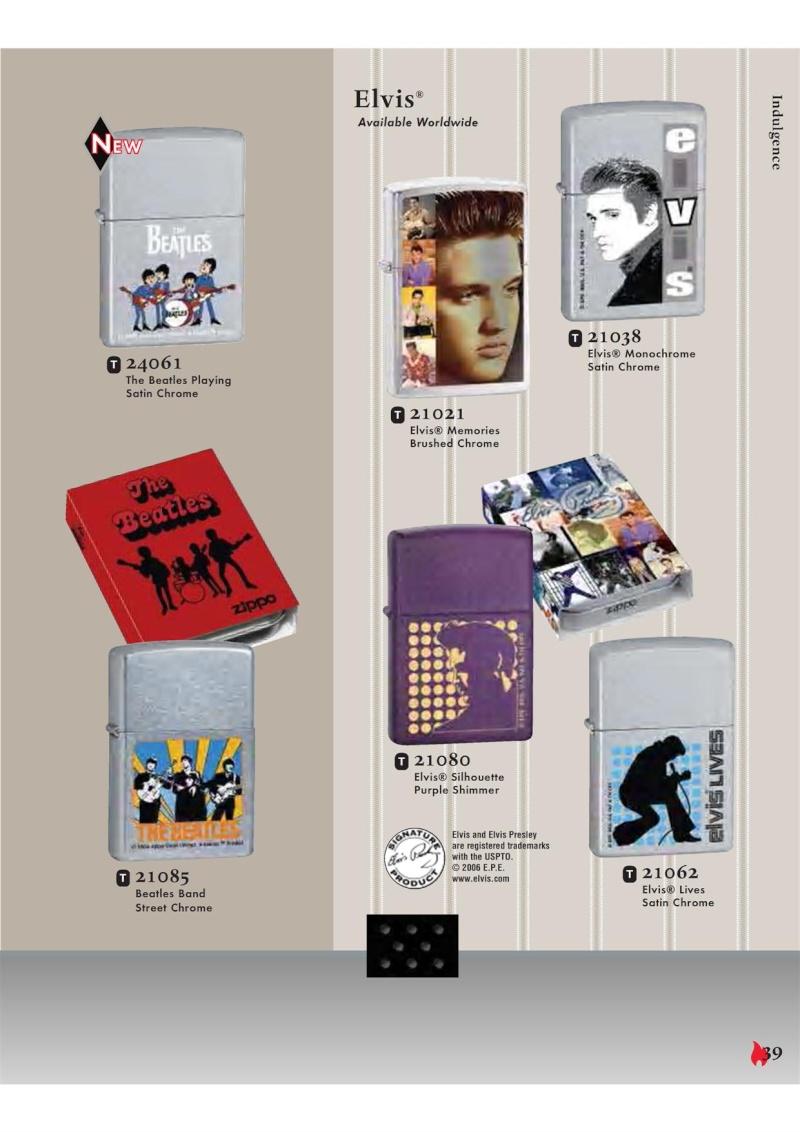 Catalogue ZIPPO 2007 Complete line (version américaine) 3911