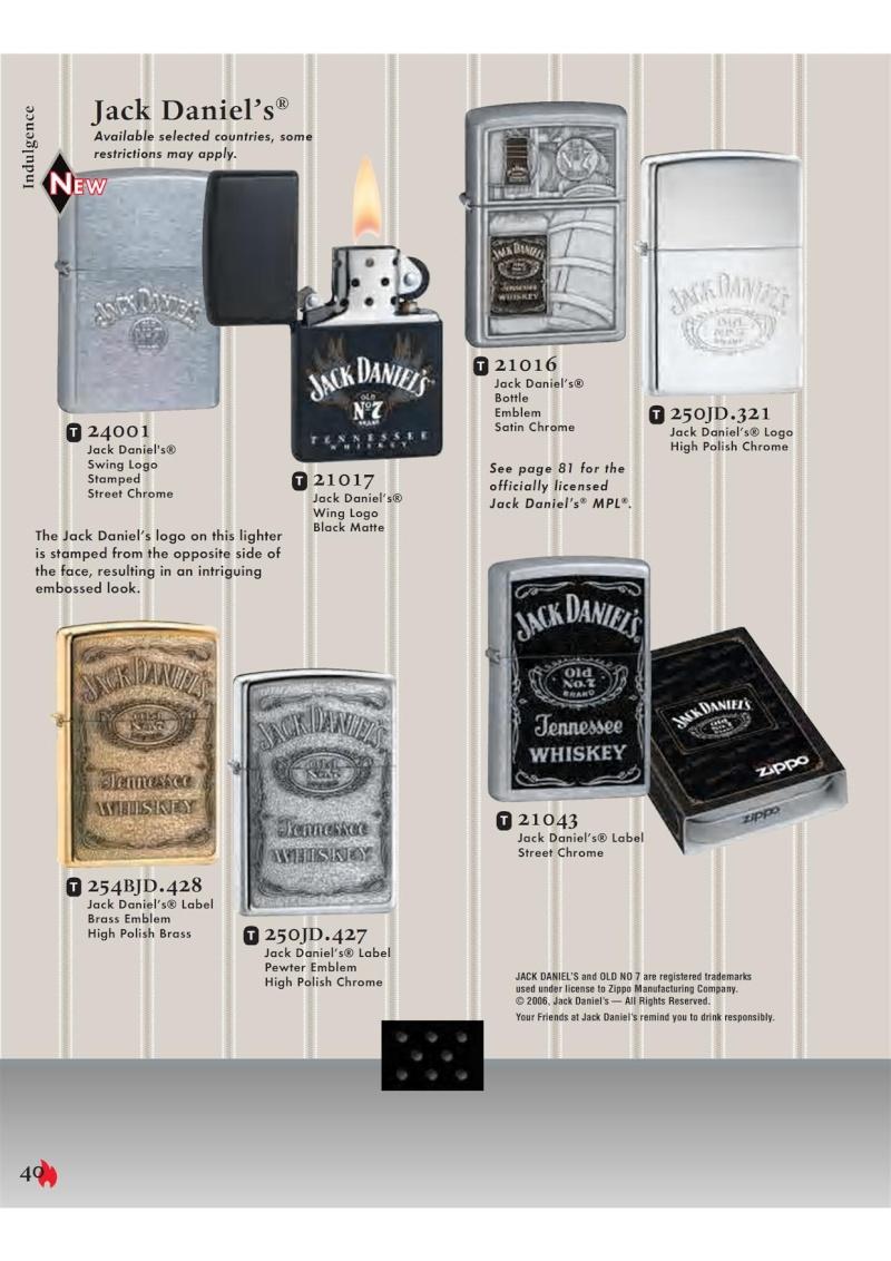 Catalogue ZIPPO 2007 Complete line (version américaine) 4011