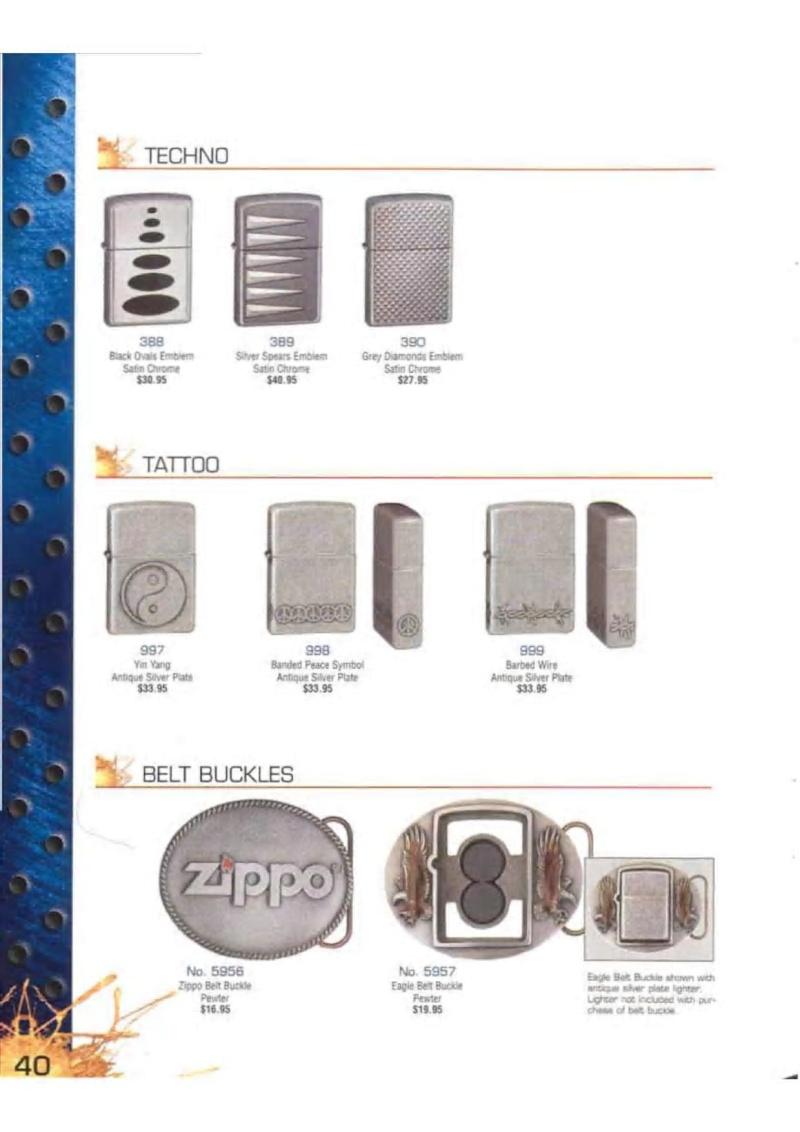 Catalogue ZIPPO 2003 Complete line (version américaine) 4013