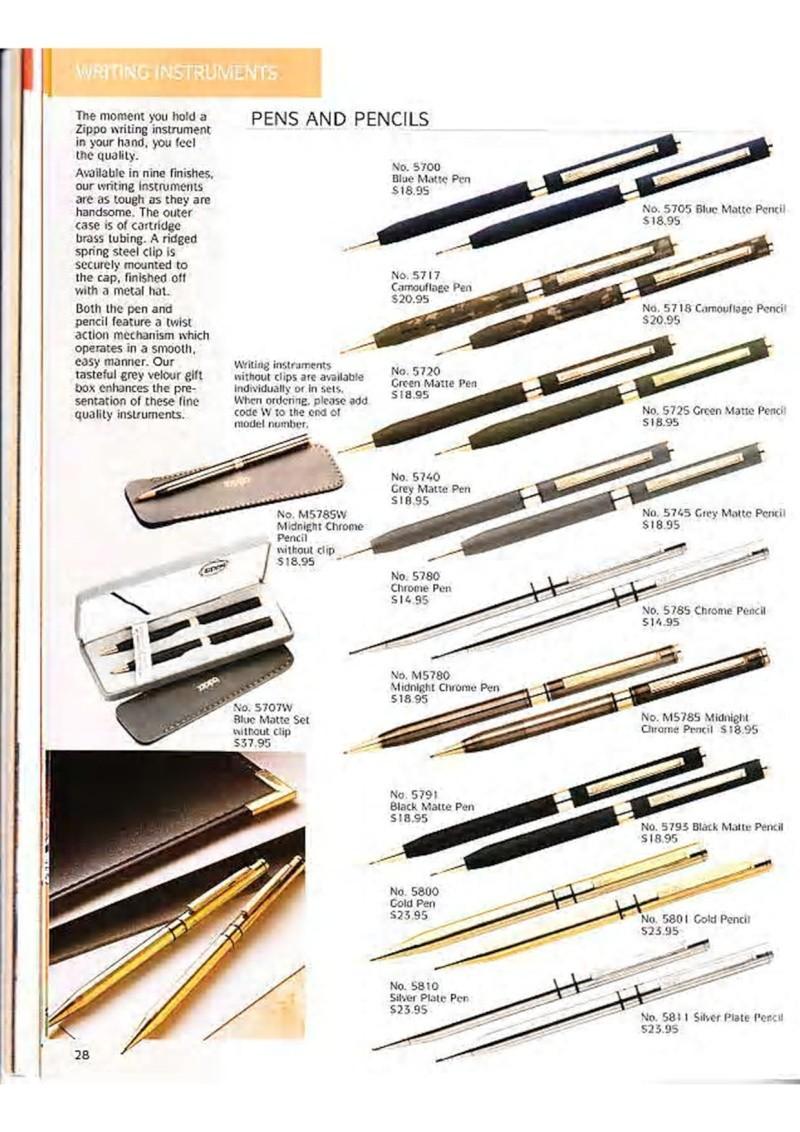 Catalogue ZIPPO Collection 1995 (version américaine) 4110