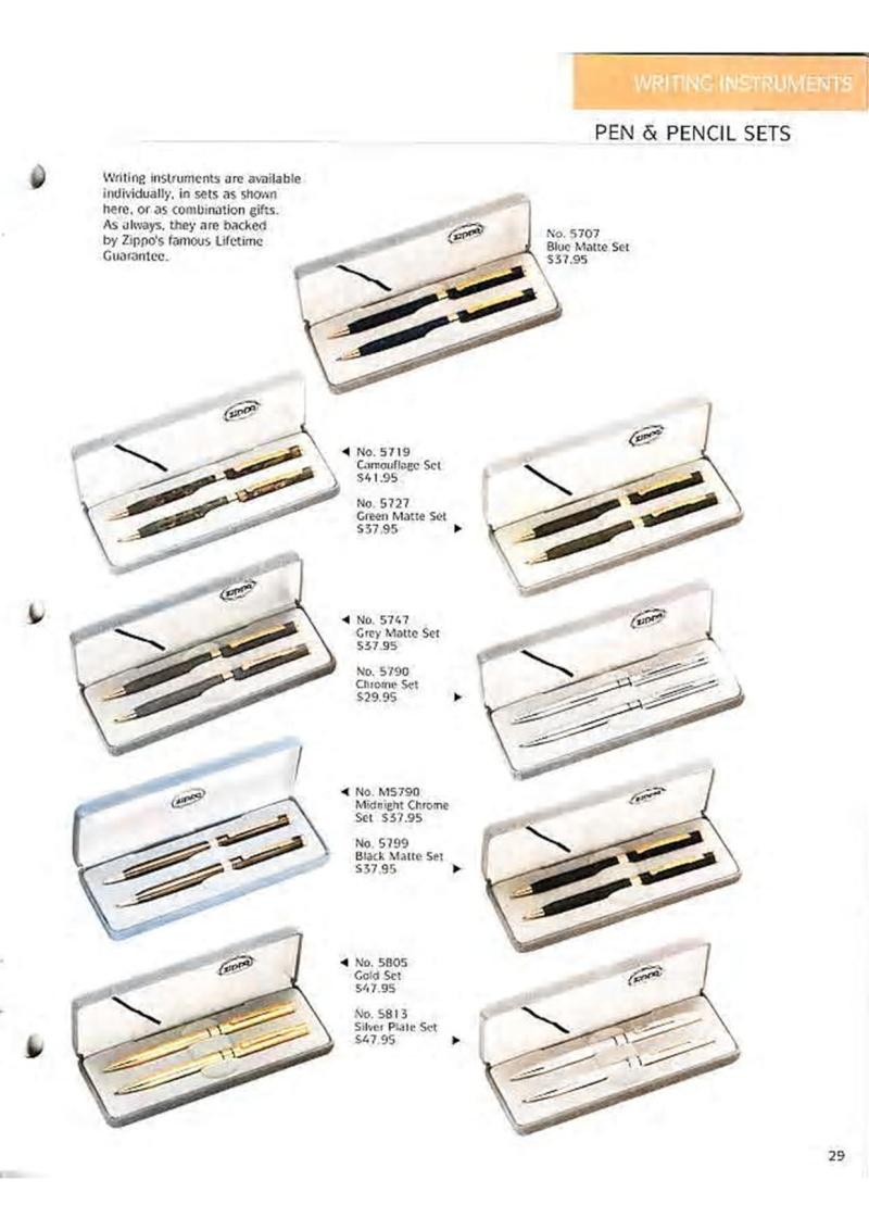 Catalogue ZIPPO Collection 1995 (version américaine) 4210